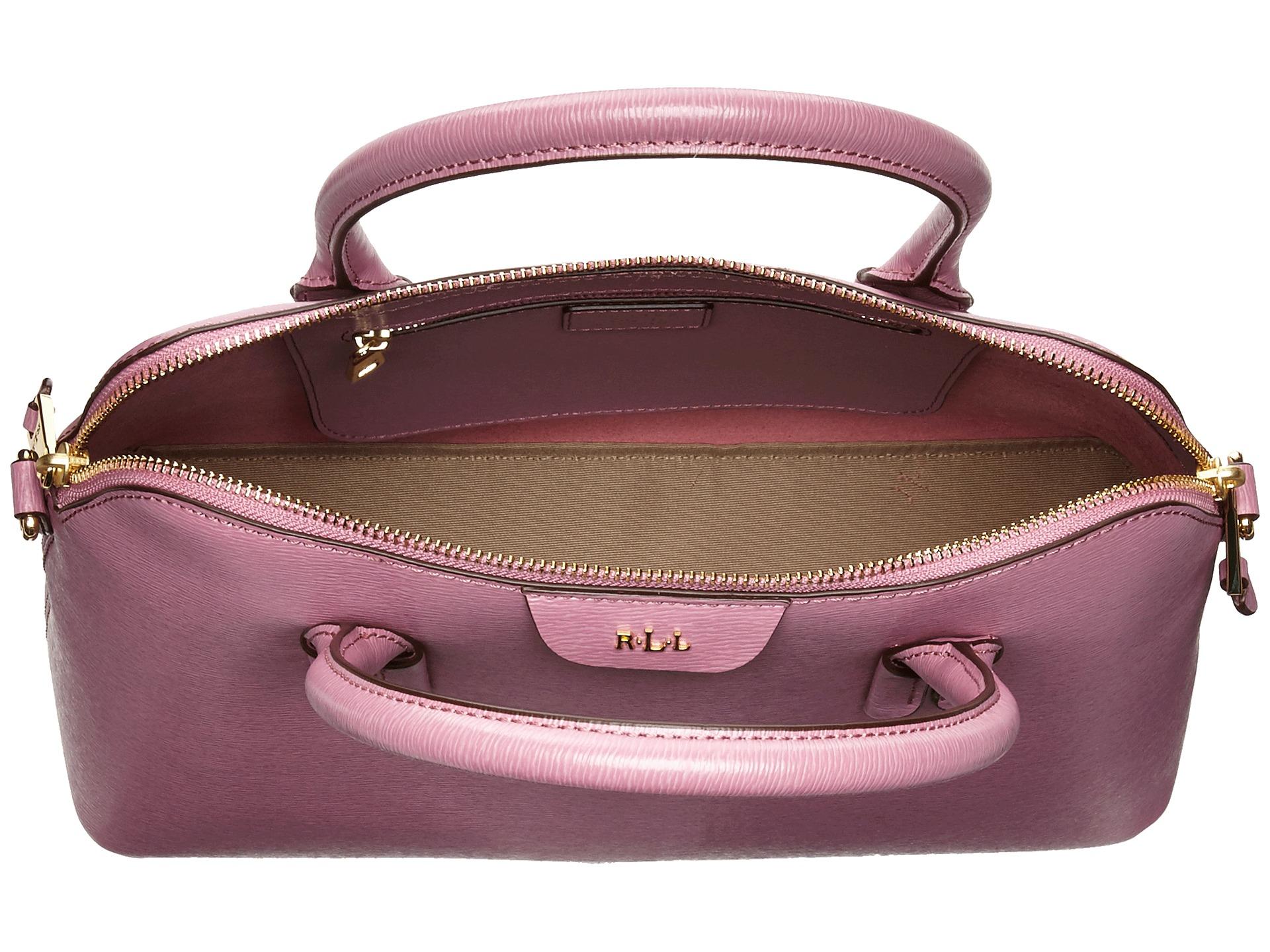 c9283092e5 Lyst - Lauren by Ralph Lauren Tate Dome Satchel in Pink