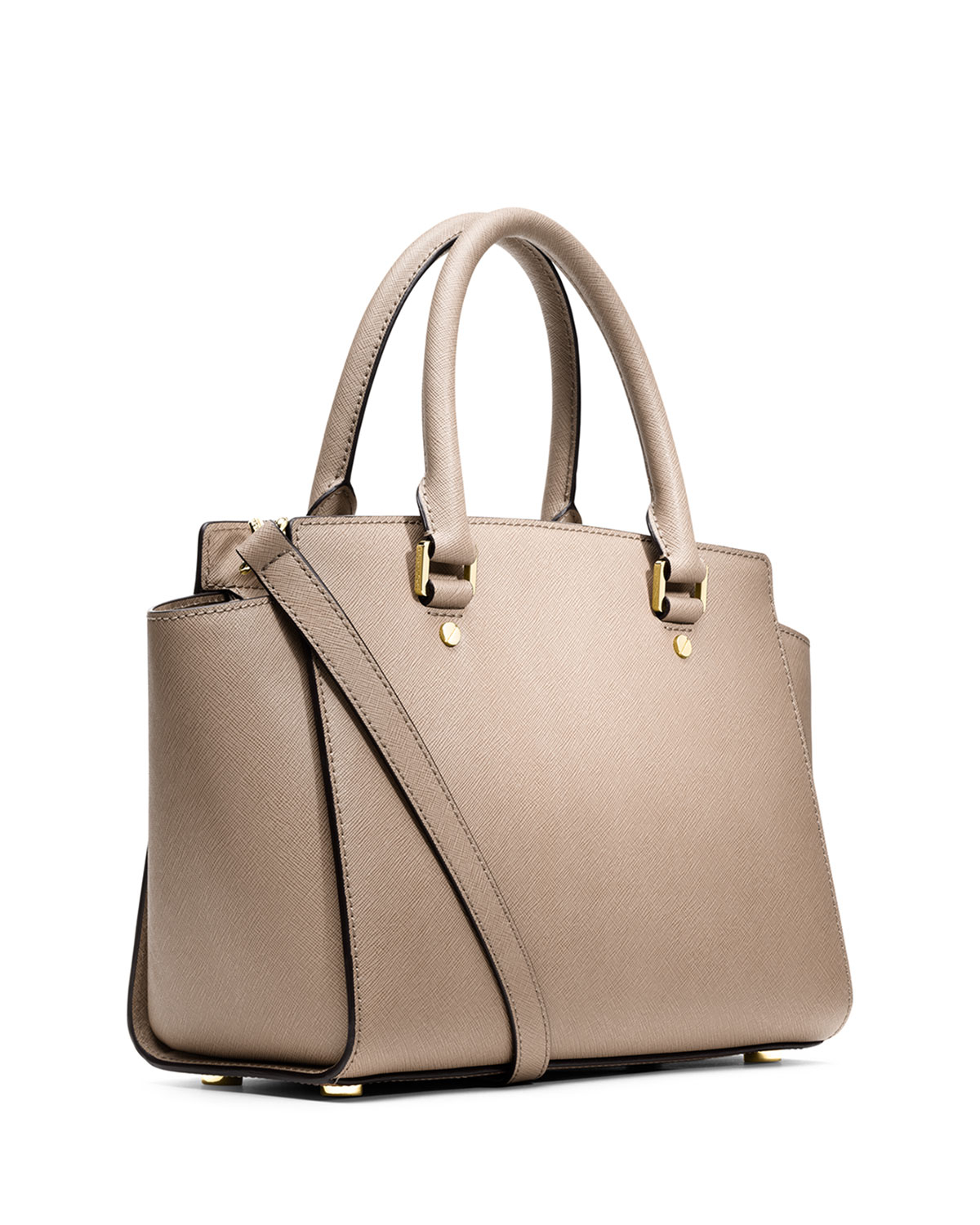 118c0791ea72 Lyst - MICHAEL Michael Kors Selma Medium Satchel Bag in Natural