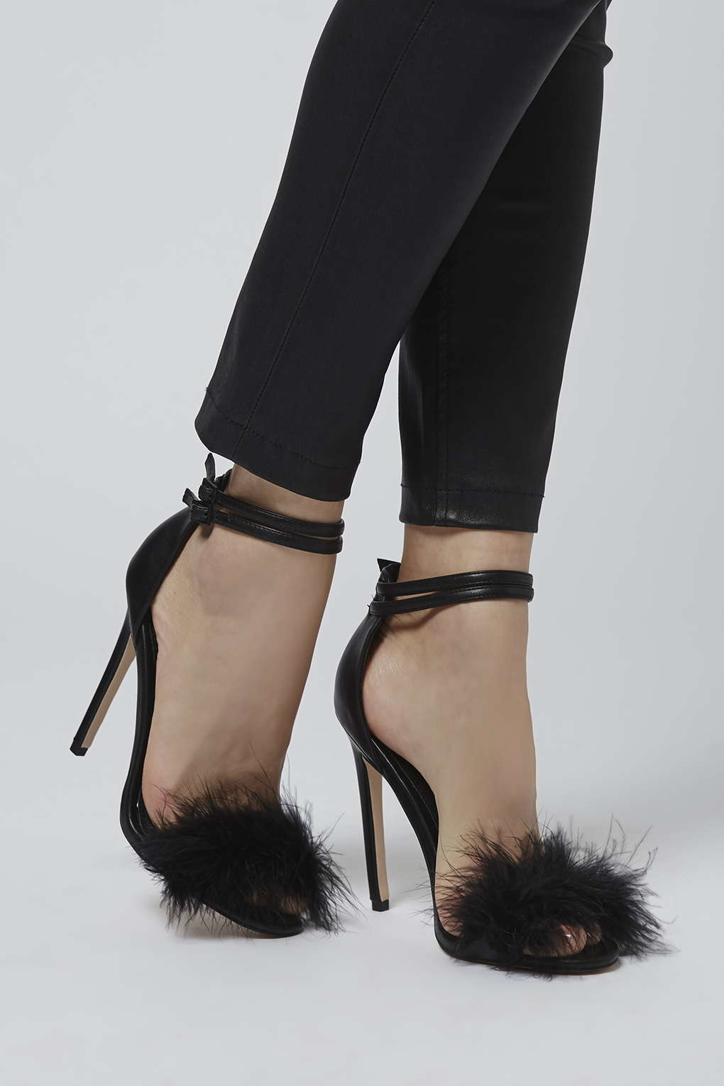 Topshop Reese Feather Sandals In Black Lyst