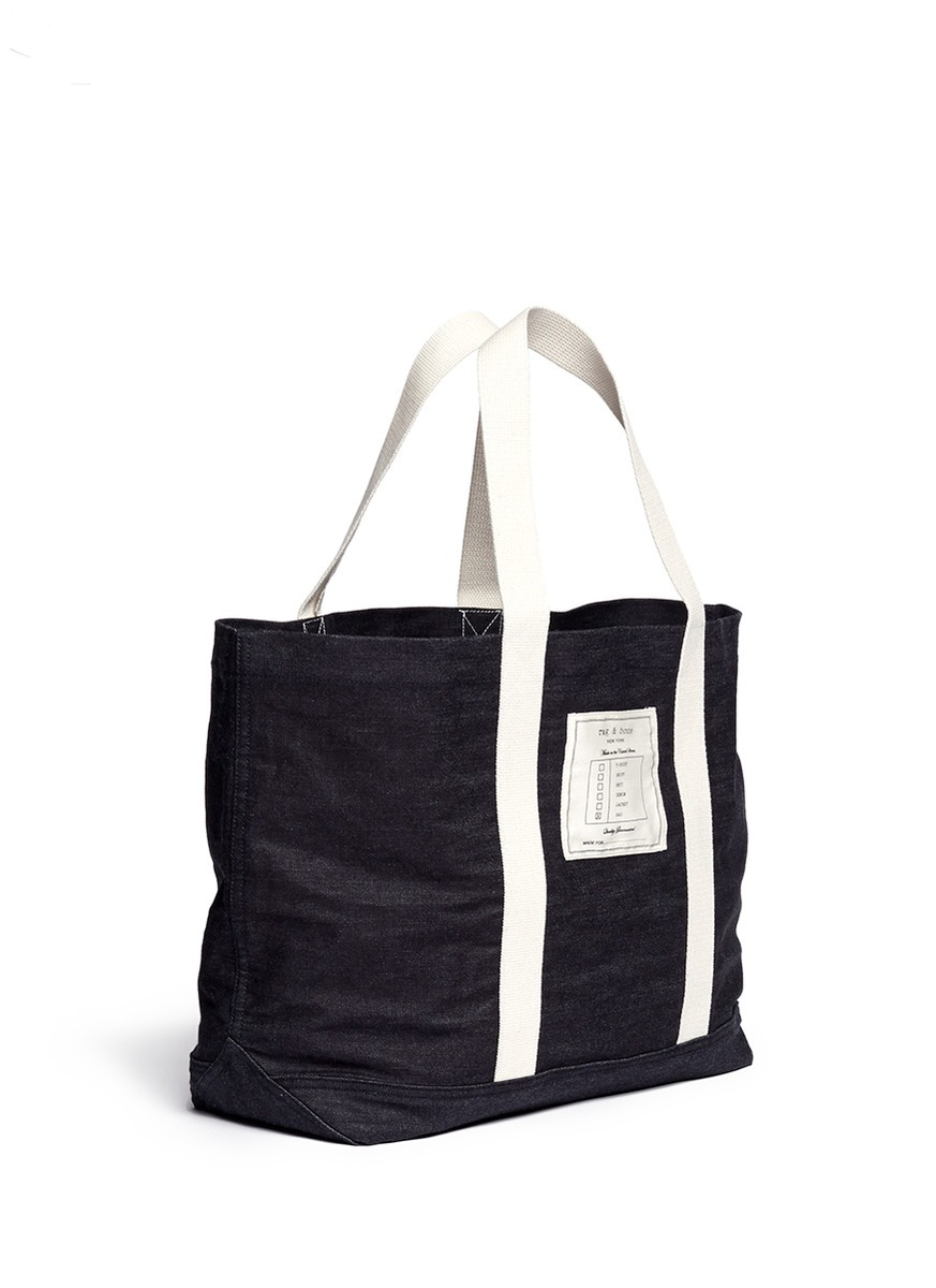 Rag & Bone Denim Tote Bag in Blue