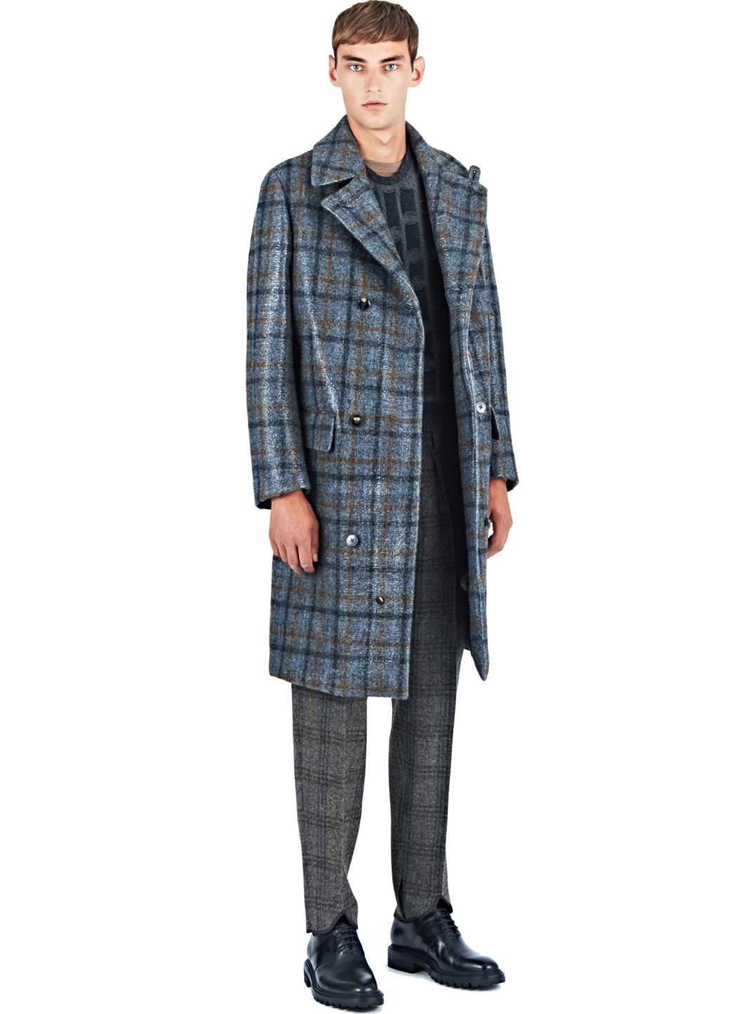 Ermenegildo zegna Men's Harris Tweed Long Coat In Grey in Gray for ...