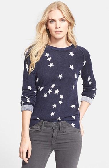 Equipment 'sloan' Star Pattern Cashmere Sweater in Blue | Lyst