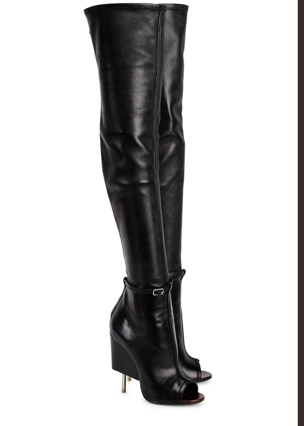 Givenchy Narlia Black Leather Thigh Boots