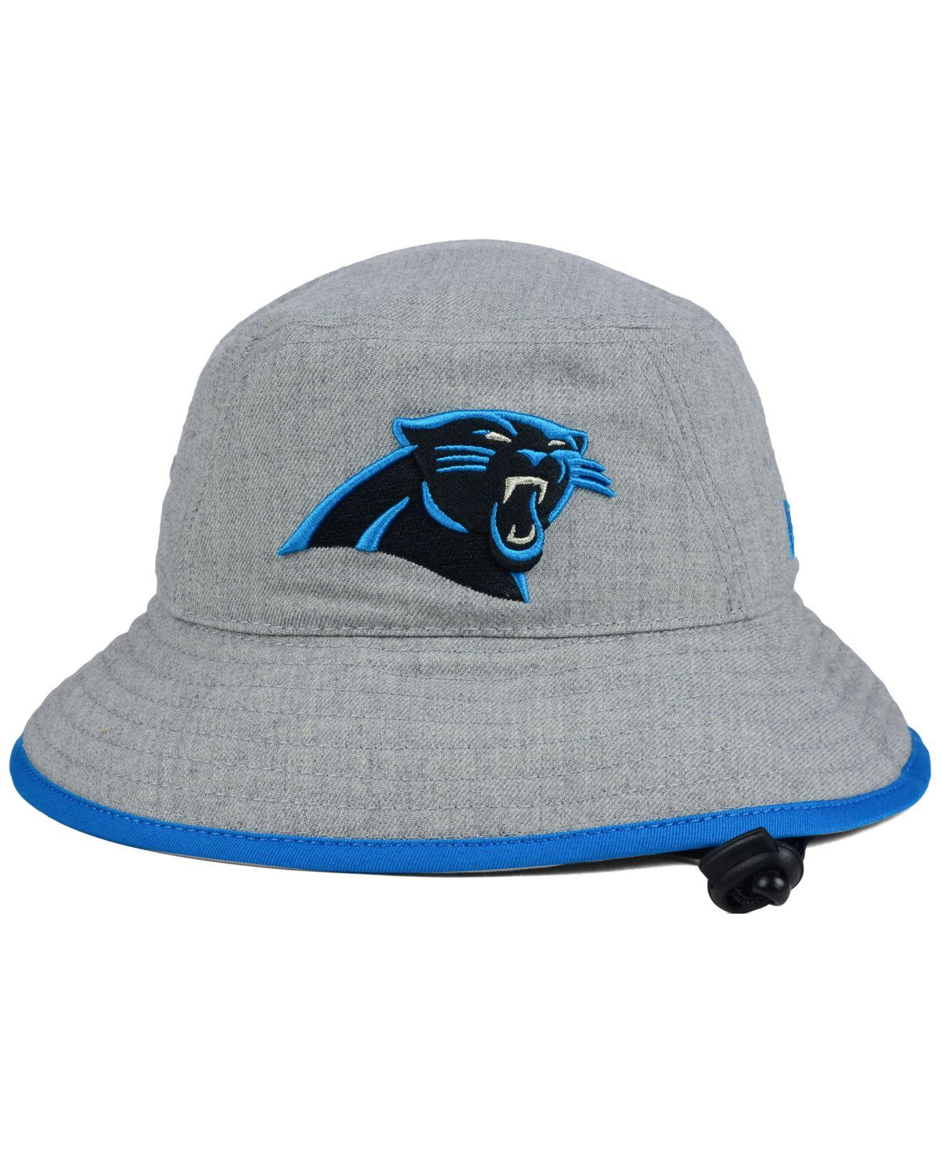 newest 7445c 2f719 ... czech lyst ktz carolina panthers nfl heather gray bucket hat in gray  for men 31dae 51cda cheap carolina panthers the team script snapback ...
