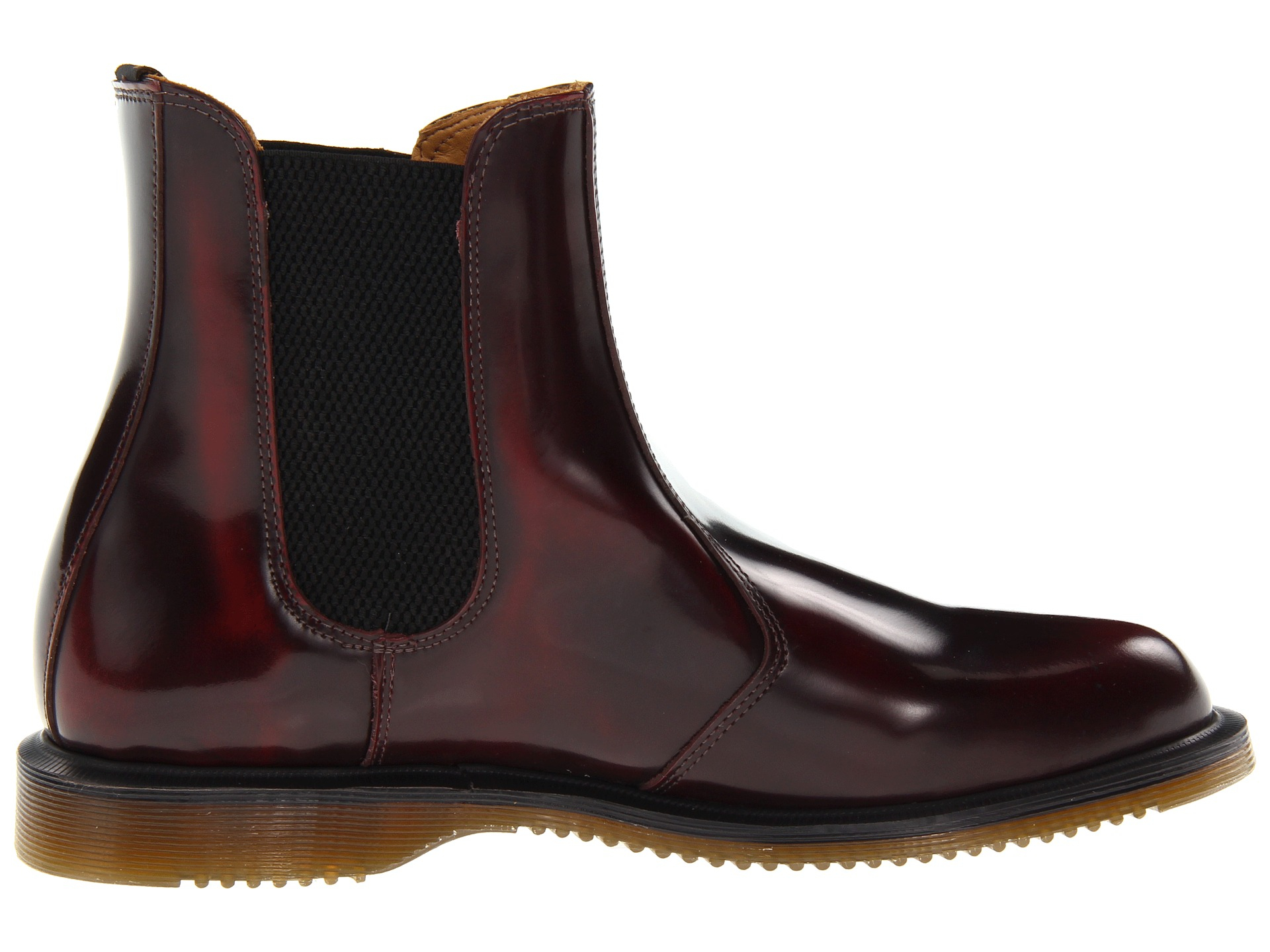 dr martens flora chelsea boot in red lyst. Black Bedroom Furniture Sets. Home Design Ideas