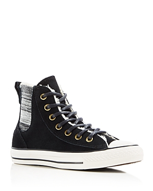 d33a55ad6cde Lyst - Converse Chuck Taylor All Star Chelsea Faux-shearling High ...