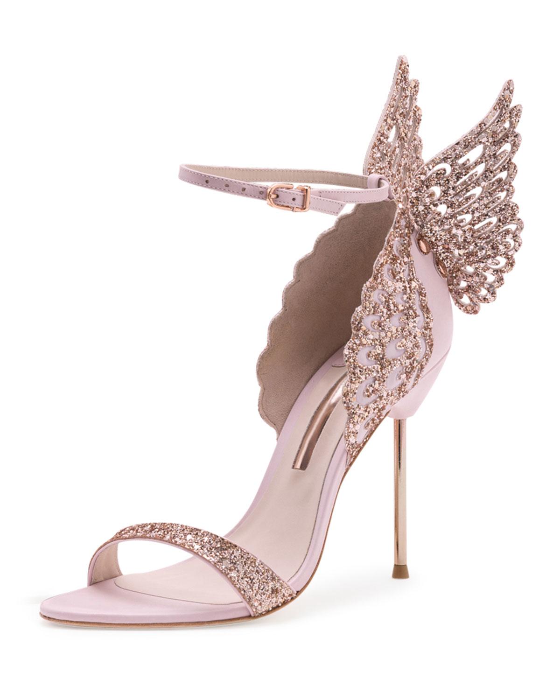 Pink Butterfly Wings | Sophia webster shoes, Glitter shoes