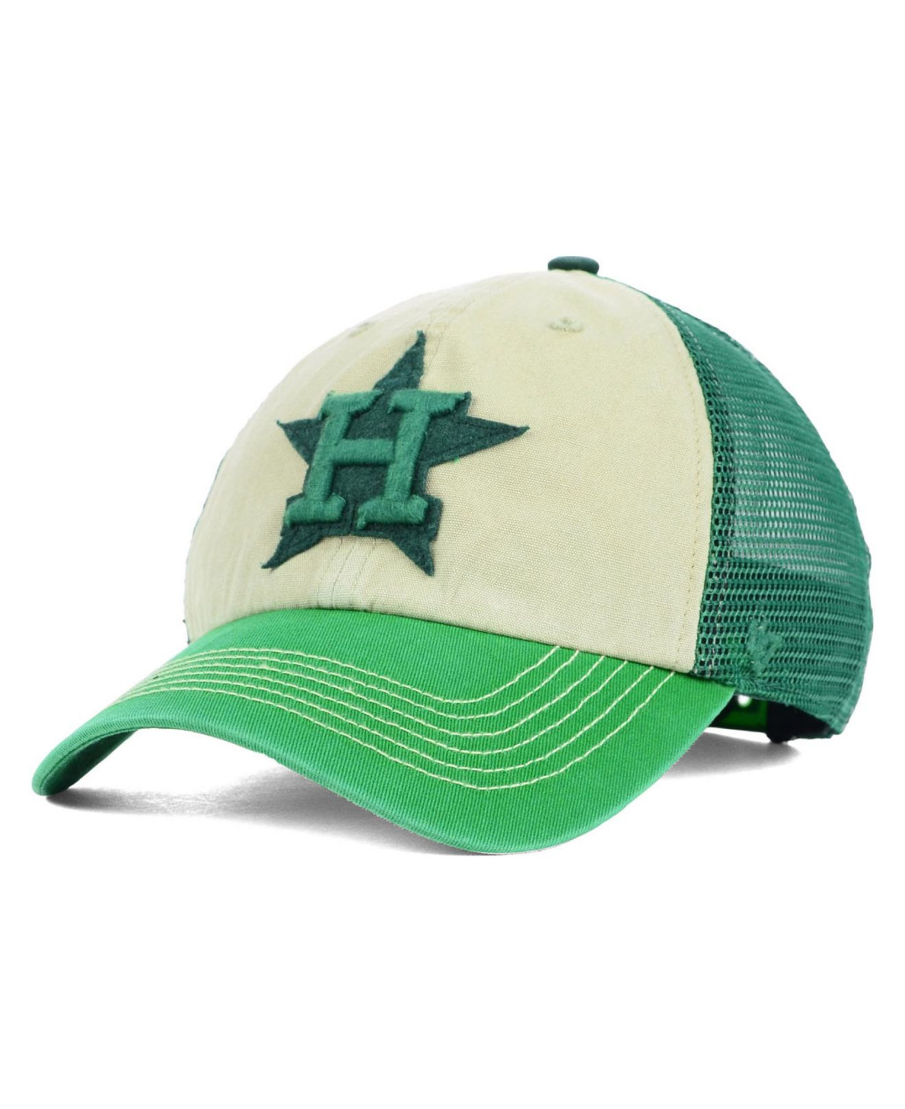 47 Brand Green Houston Astros Mcnally Clean Up Cap for men