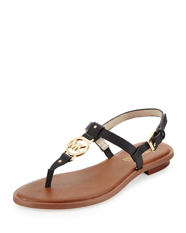 Lyst Michael Michael Kors Sondra Logo Thong Sandal In Black