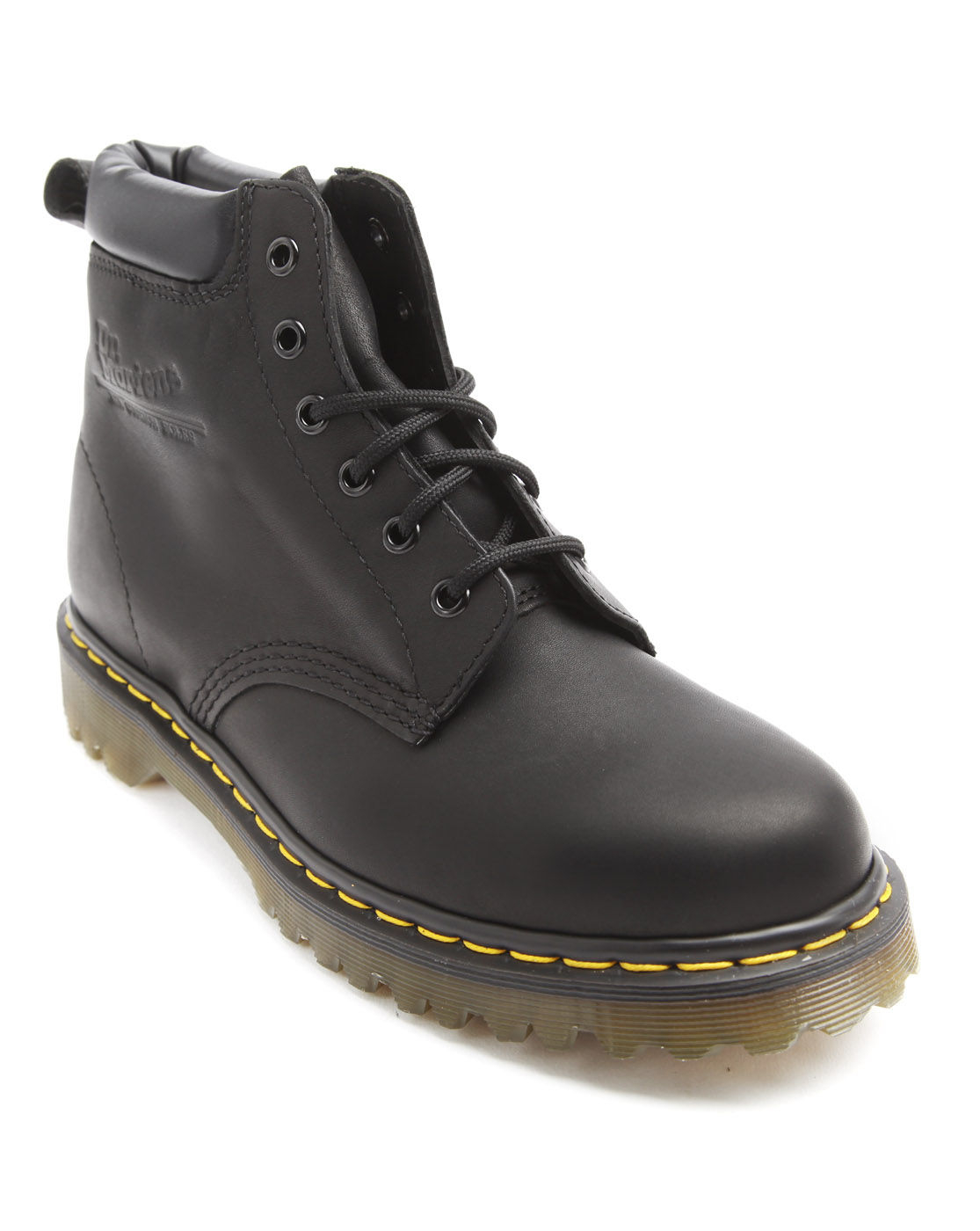dr martens 939 black leather boots in black for lyst