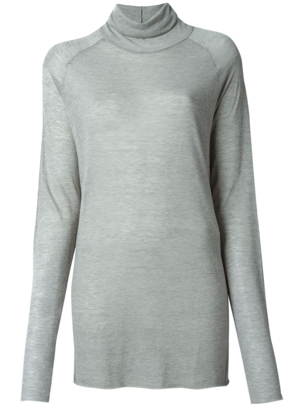 haider ackermann loose fit turtle neck sweater in gray lyst. Black Bedroom Furniture Sets. Home Design Ideas