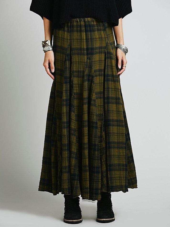 free cp shades womens plaid maxi skirt in