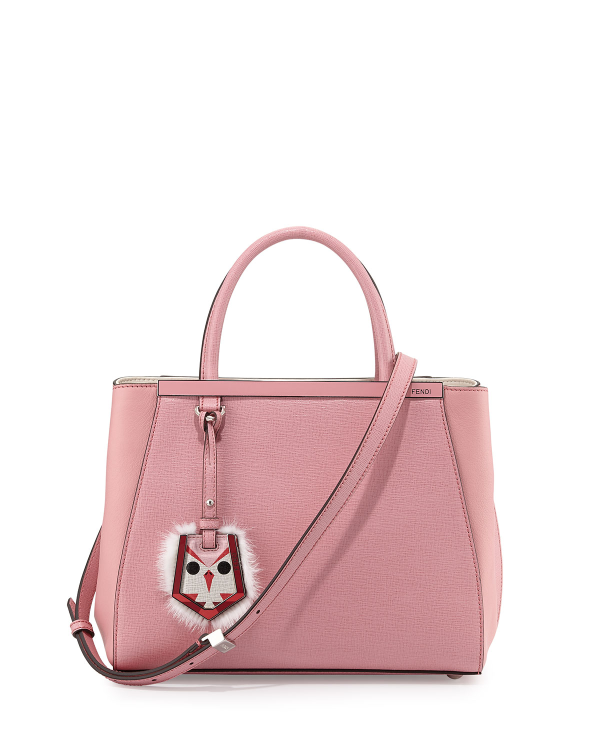 7978059a99c Fendi 2Jours Petit Monster-Charm Shopping Tote Bag in Pink - Lyst