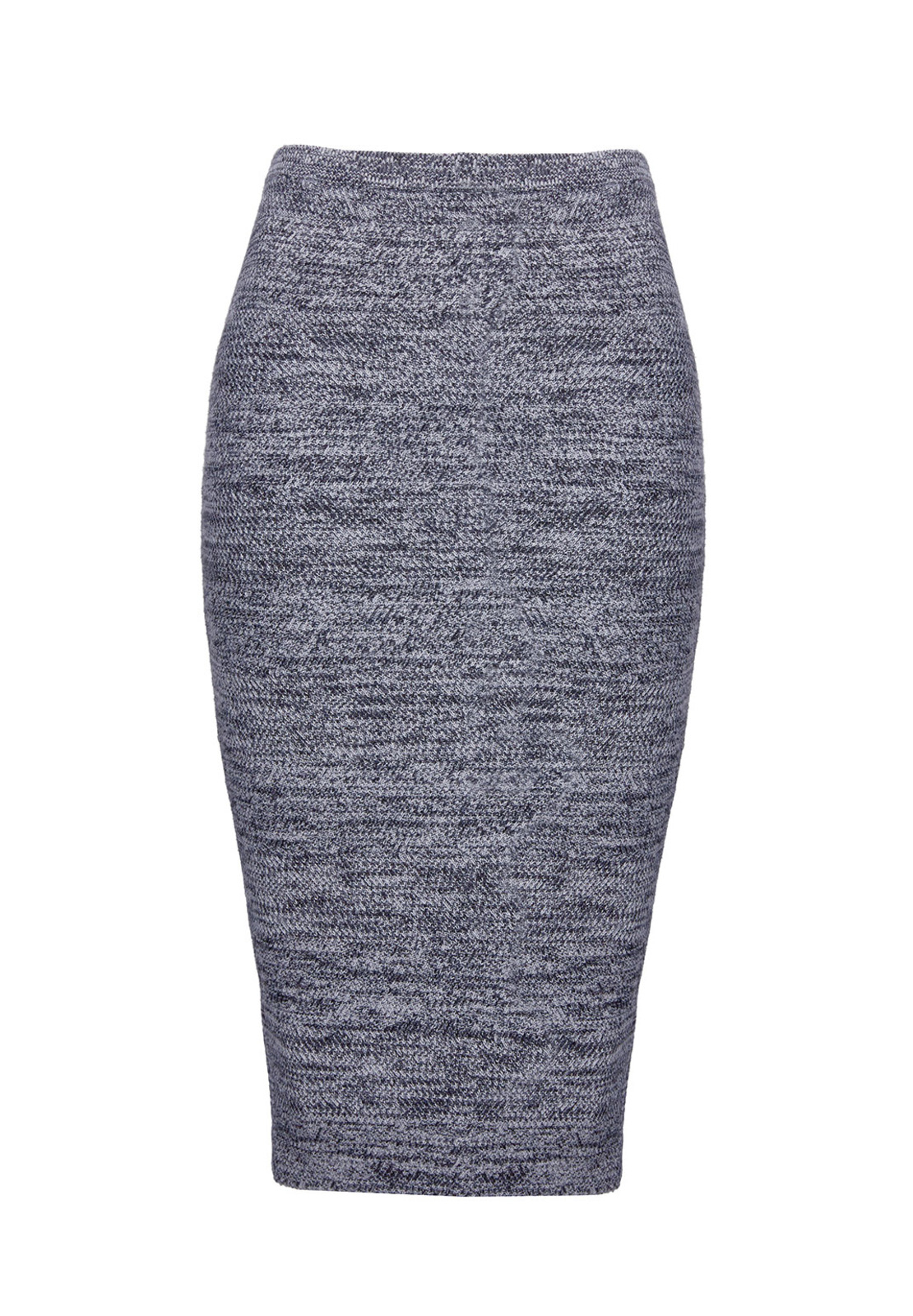 Alice   olivia Morena Herringbone Long Pencil Skirt in Blue | Lyst
