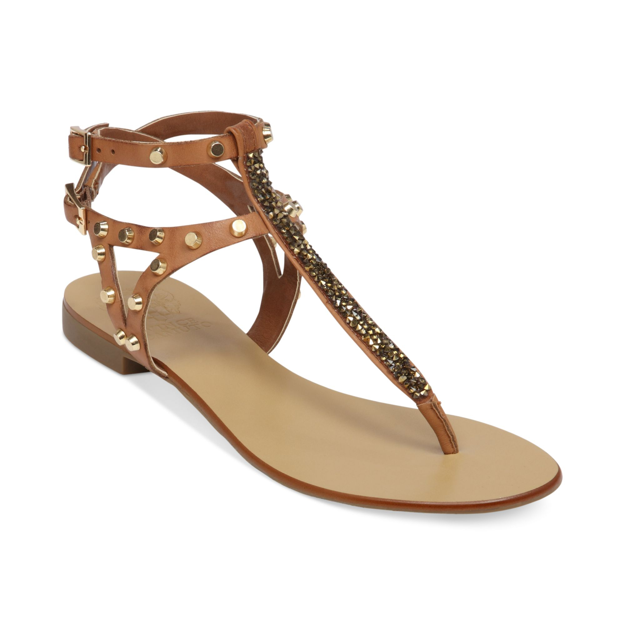 cf42b17f7 Lyst - Vince Camuto Jemile Flat Thong Sandals in Natural