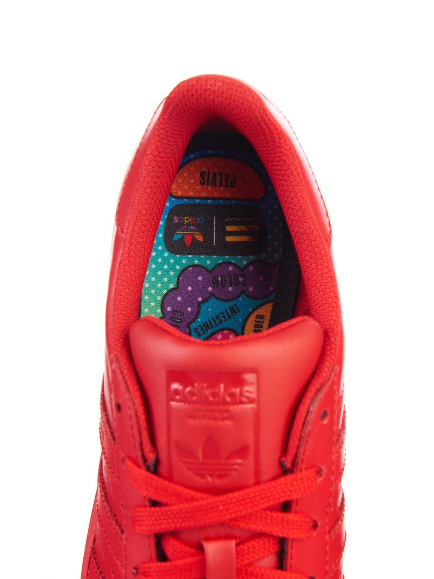 look out for buying cheap buy best adidas Superstar Supercolor Leather Trainers in Red - Lyst