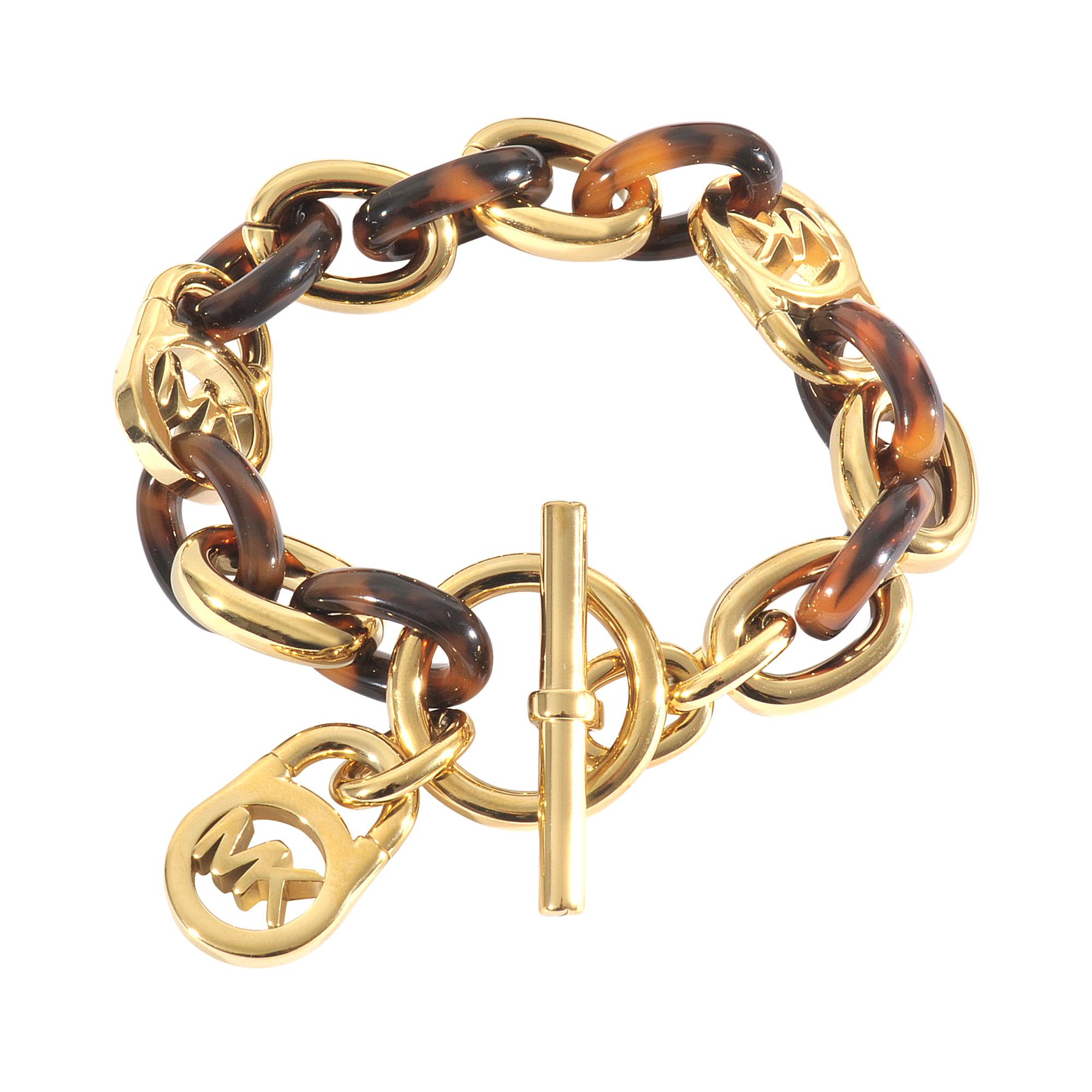 michael kors gold armband heritage lyst. Black Bedroom Furniture Sets. Home Design Ideas