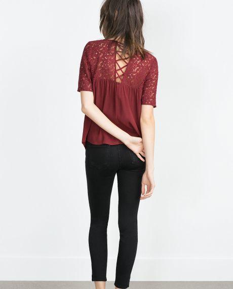 Zara Purple Blouse 80