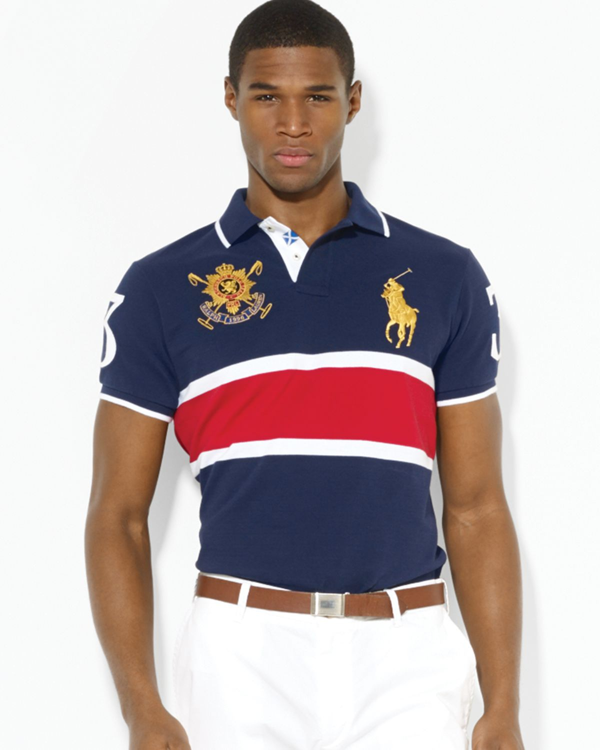Lyst Ralph Lauren Polo Black Watch Customfit Polo Shirt In Red For Men