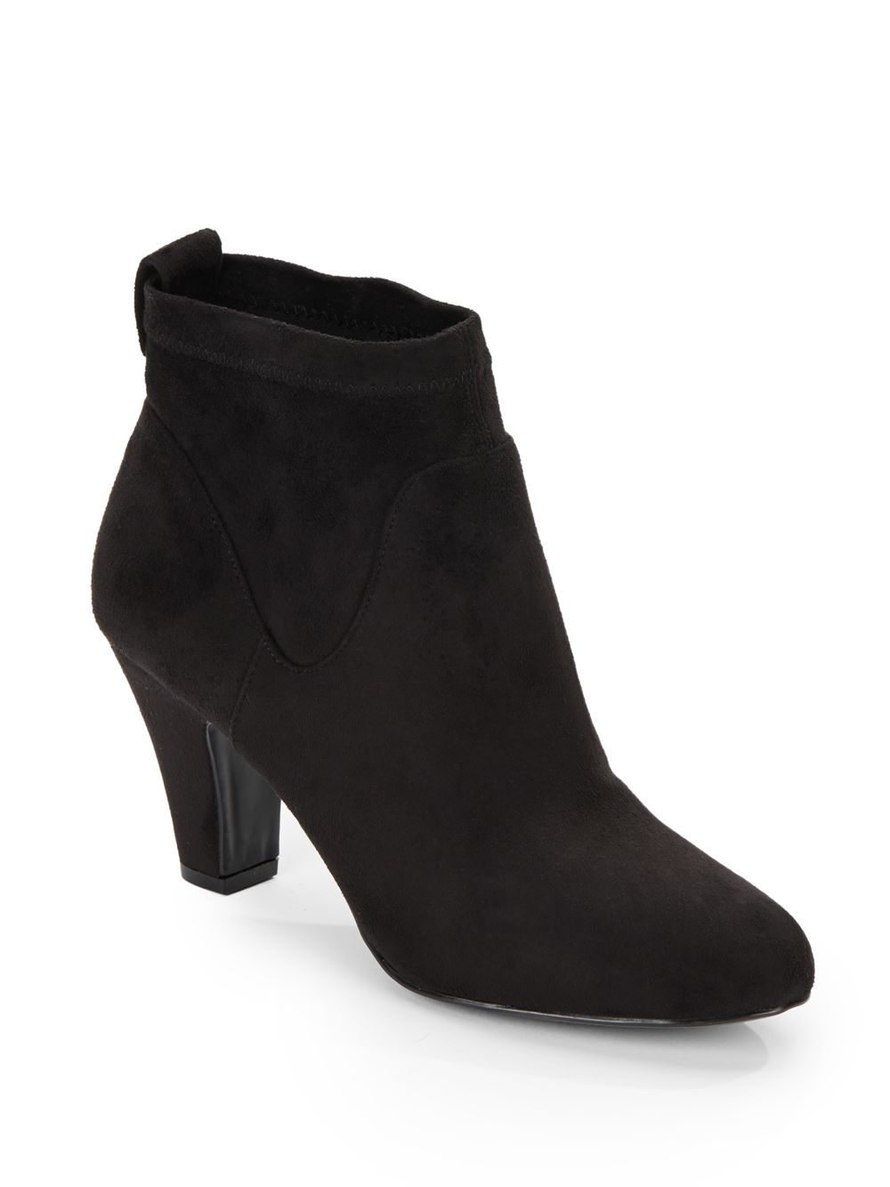 bcbgeneration faux suede ankle boots in black lyst