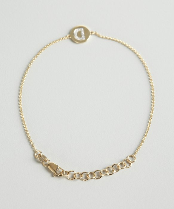 Lyst kc designs gold and diamond d initial pendant bracelet in gallery mozeypictures Images