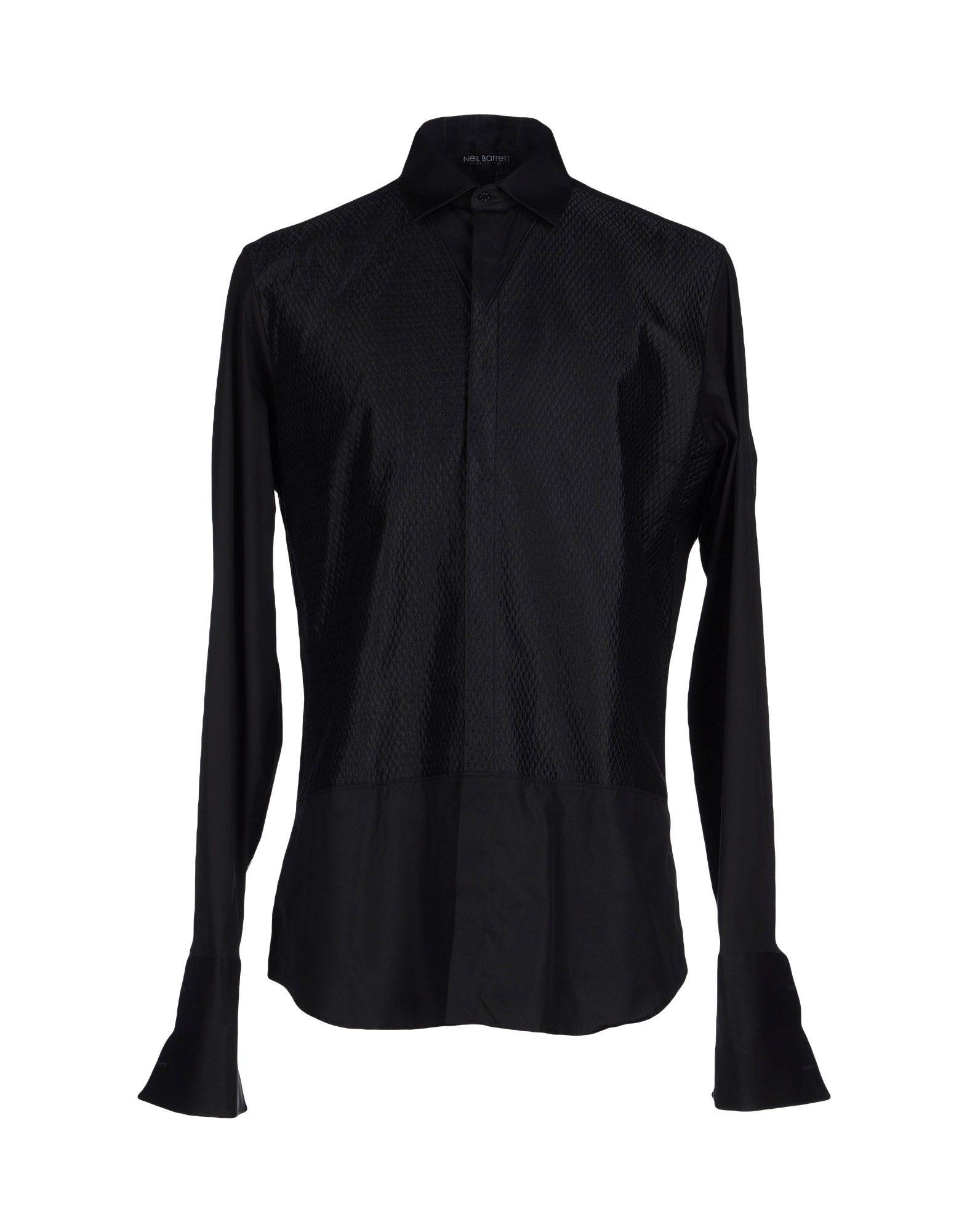 Neil barrett shirt in black for men lyst for Neil barrett tuxedo shirt
