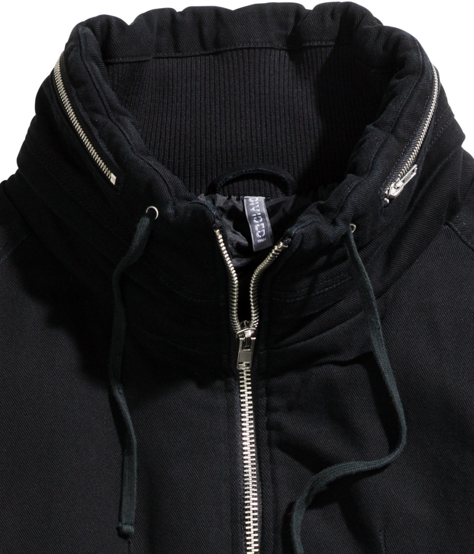 H&M Padded Twill Jacket in Black for Men