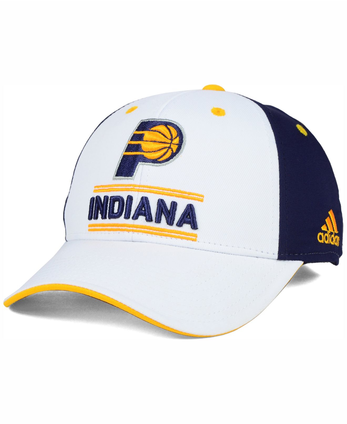 huge discount 5bbd7 43534 adidas Originals Indiana Pacers Playmaker Adjustable Cap in Blue for ...