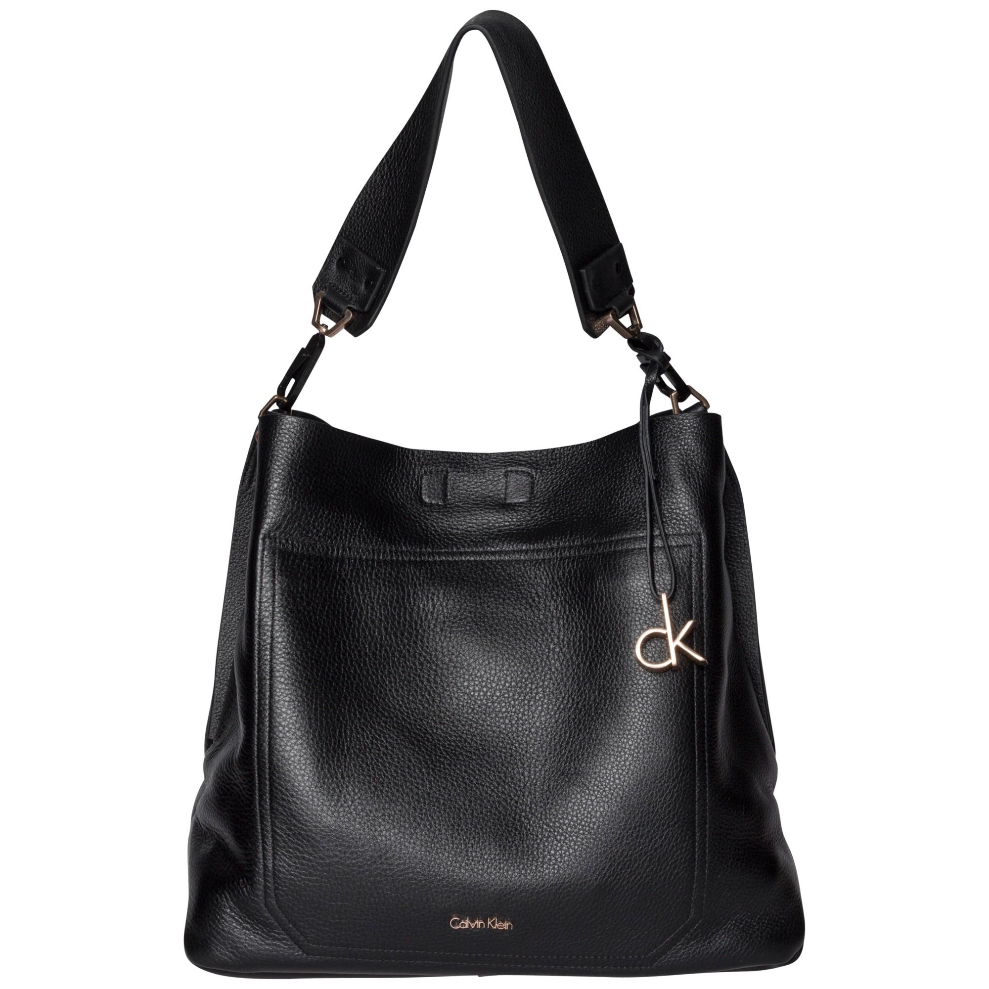 Calvin Klein Charlene Leather Hobo Bag