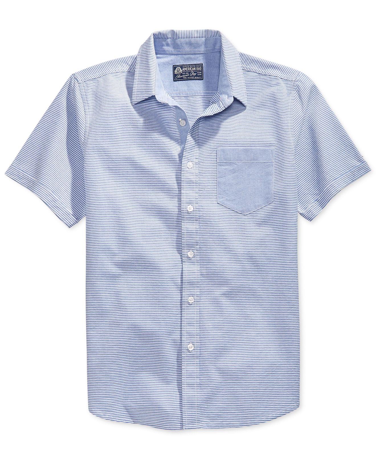 Lyst American Rag Horizon Oxford Shirt In Blue For Men