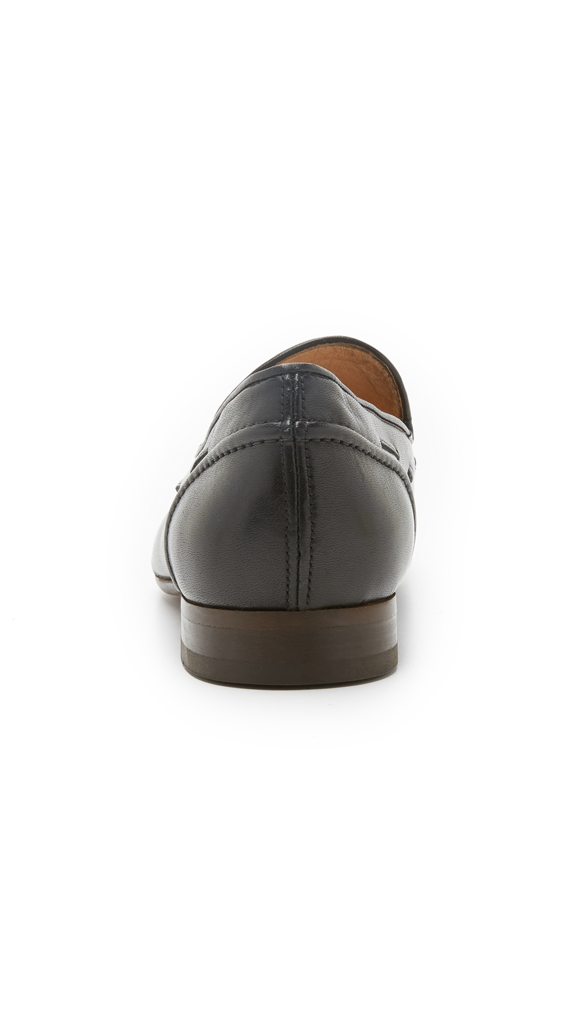 H by Hudson Leather Pierre Tassel Loafers in Black for Men
