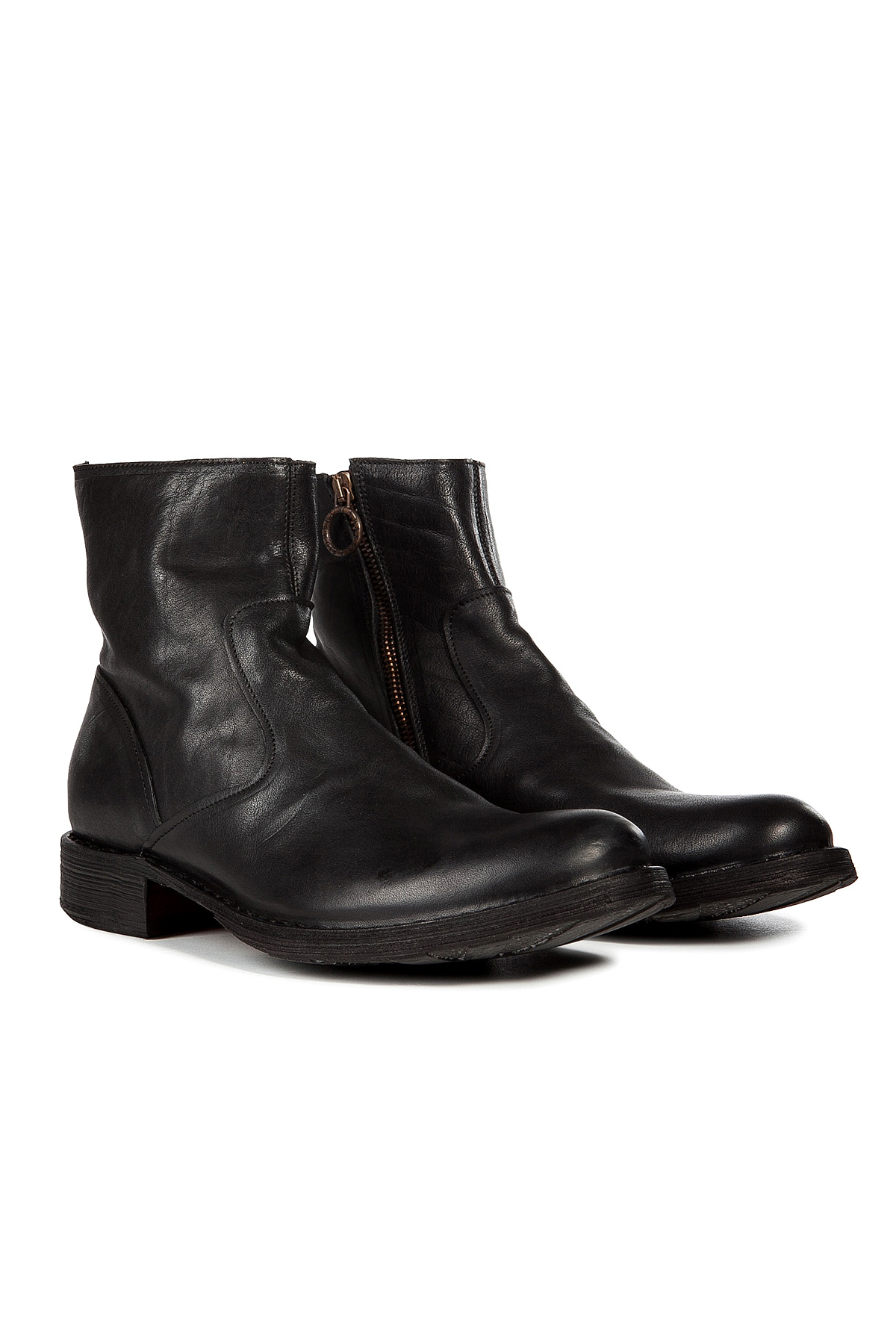 fiorentini baker leather eternity boots black in black. Black Bedroom Furniture Sets. Home Design Ideas