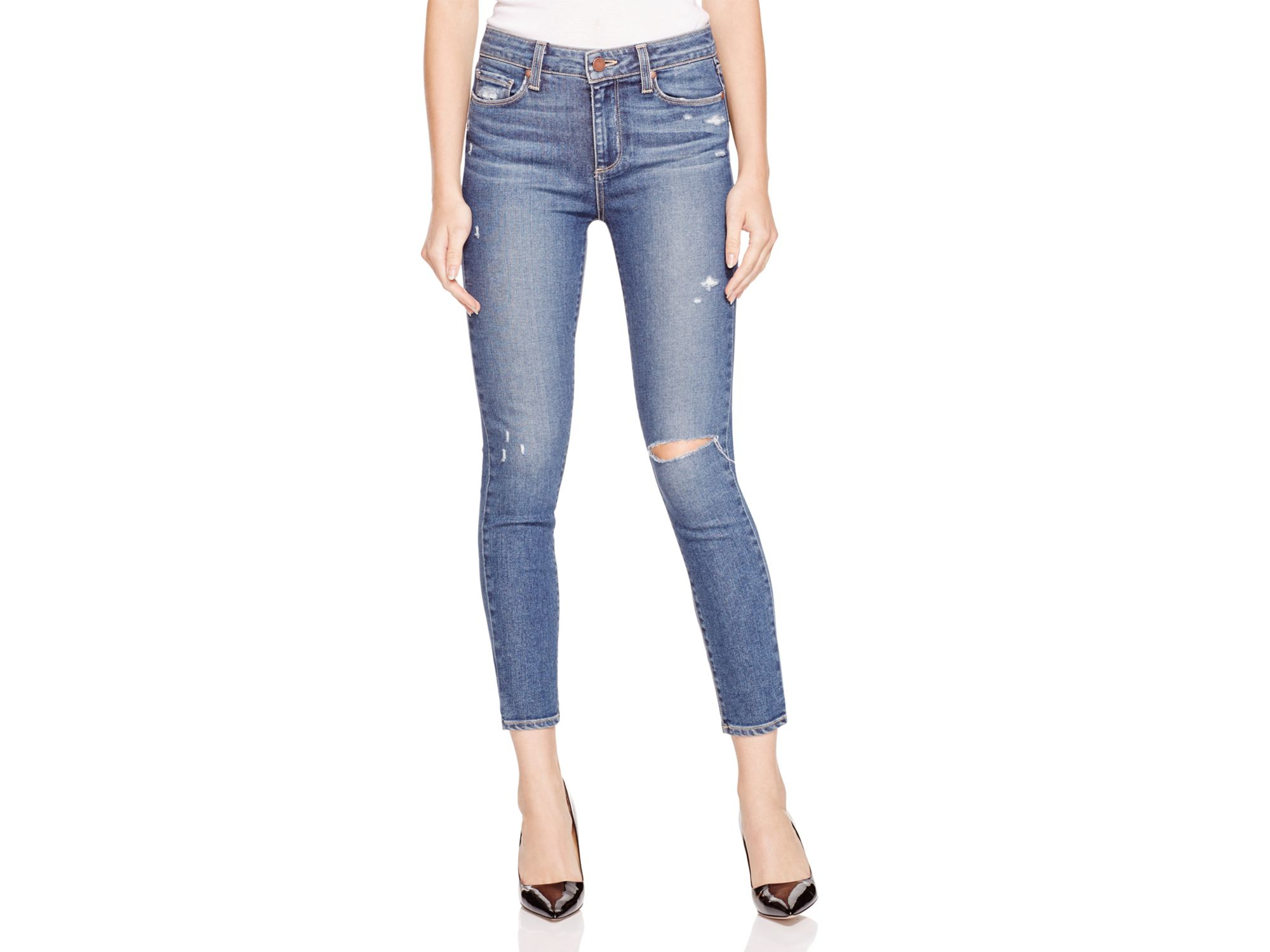 Paige Hoxton Distressed Skinny Ankle Jeans In Toren Destructed in ...
