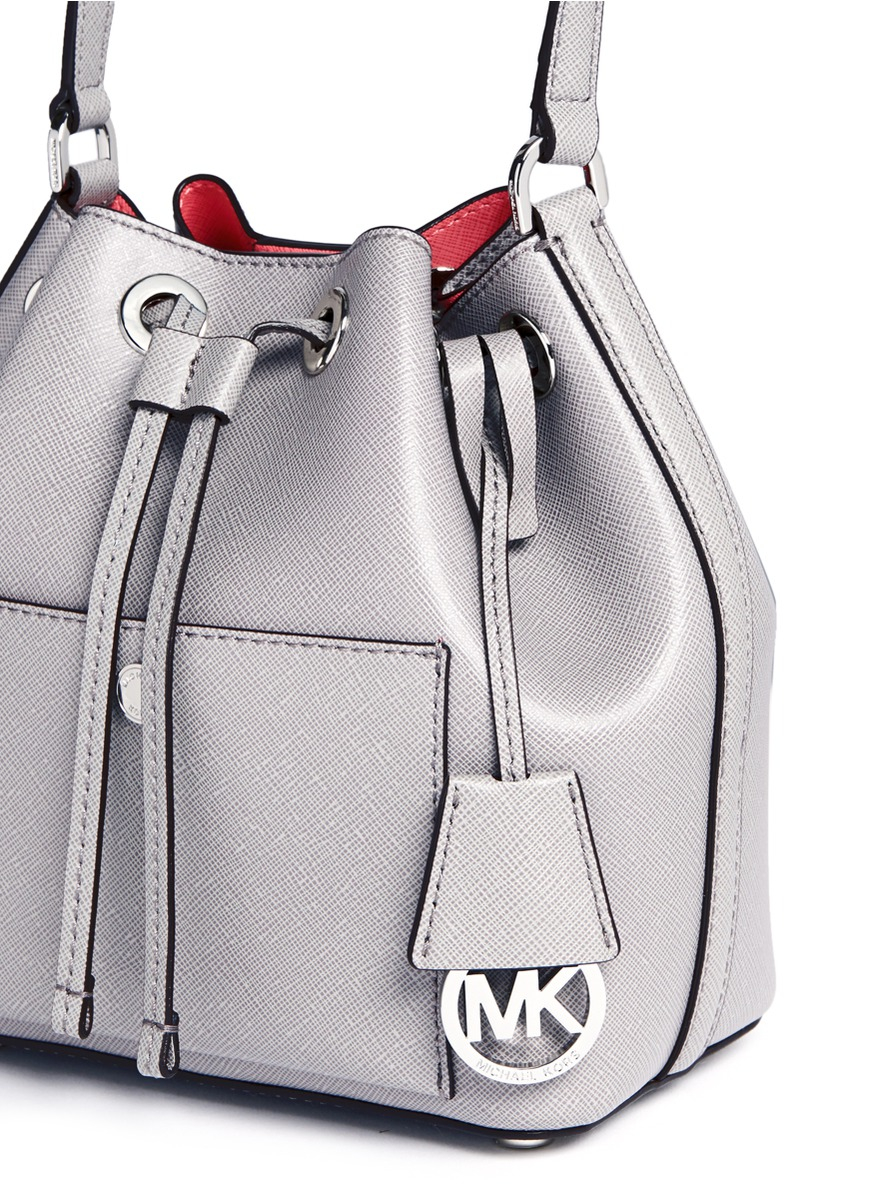 68adcd6767322 low cost lyst michael kors greenwich small saffiano leather bucket bag in  b56c0 aded3