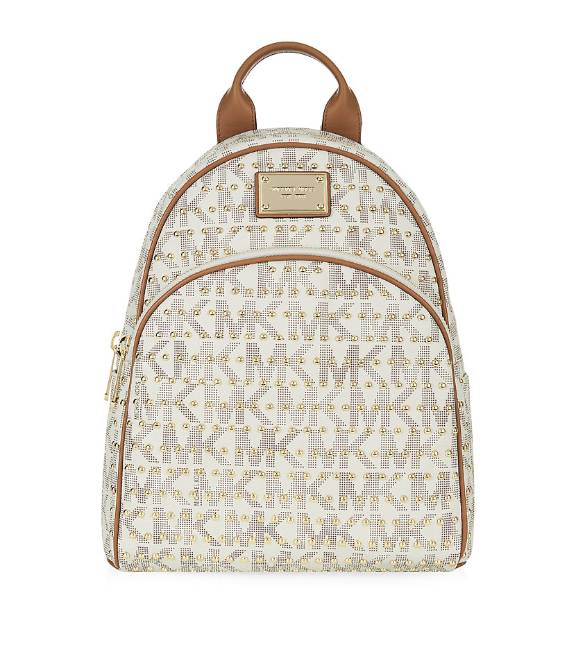 Michael Michael Kors Small Jet Set Studded Backpack In Natural Lyst