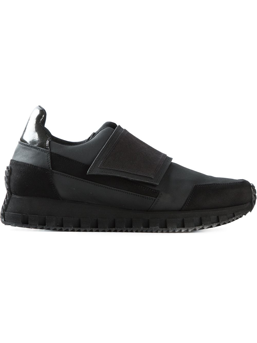 Mens Black Velcro Fastening Shoes