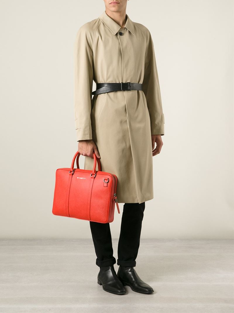 008c670250eb Lyst - Burberry Classic Laptop Bag in Orange for Men