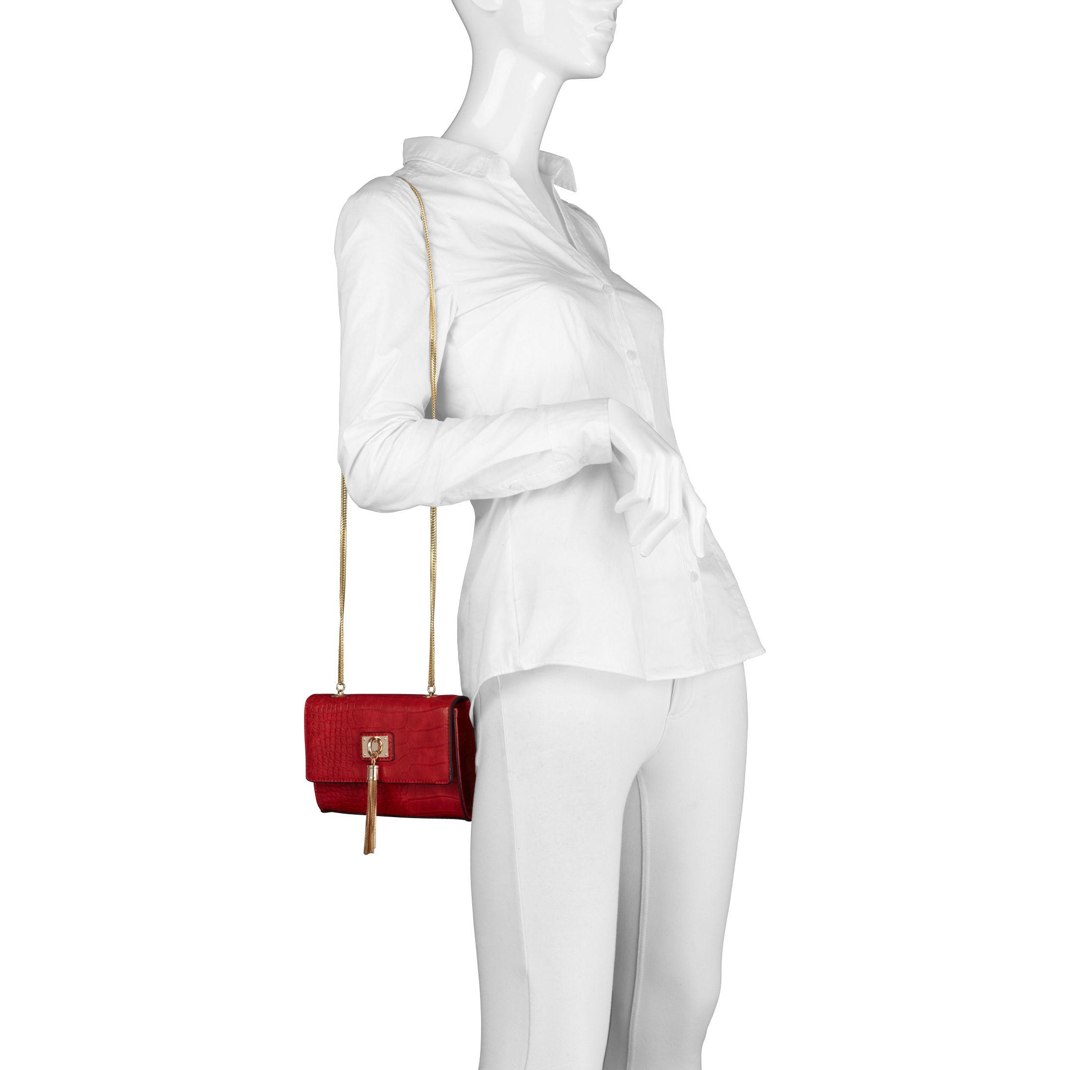 ALDO Harortland Chain Cross Body Bag in Red