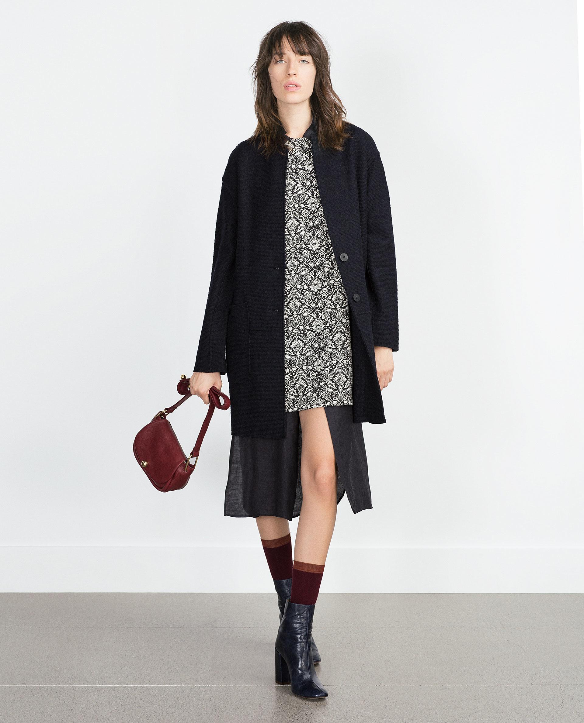 Zara Wool Coat in Blue | Lyst