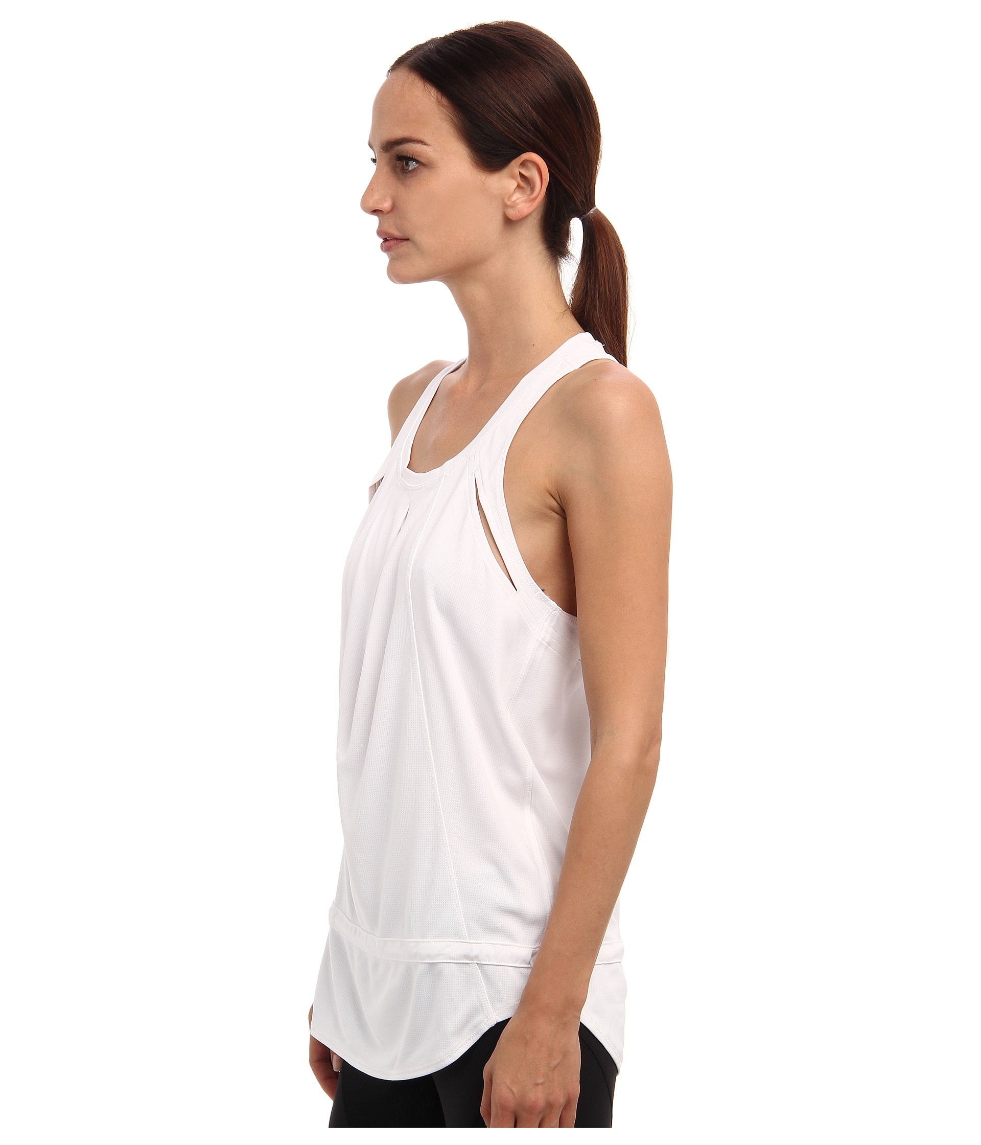 adidas by stella mccartney run chill tank in white lyst. Black Bedroom Furniture Sets. Home Design Ideas