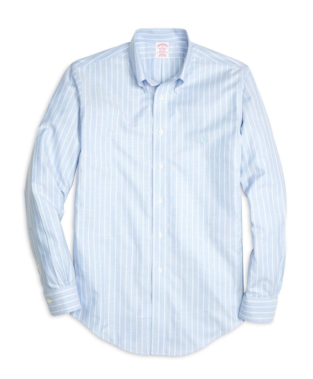 Brooks brothers non iron madison fit stripe sport shirt in for Brooks brothers non iron shirts review