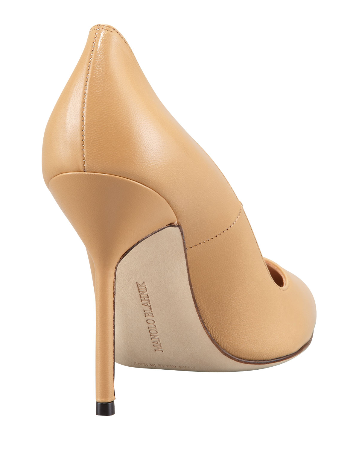 Goat leather work gloves - Manolo Blahnik Bb Pointed Toe Pump In Natural Lyst