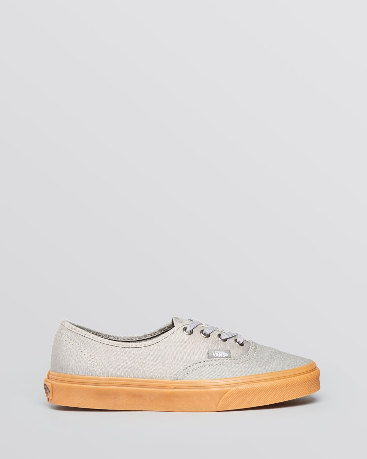 6b463e2ba63 Lyst - Vans Lace Up Sneakers - Authentic Gumsole in Gray