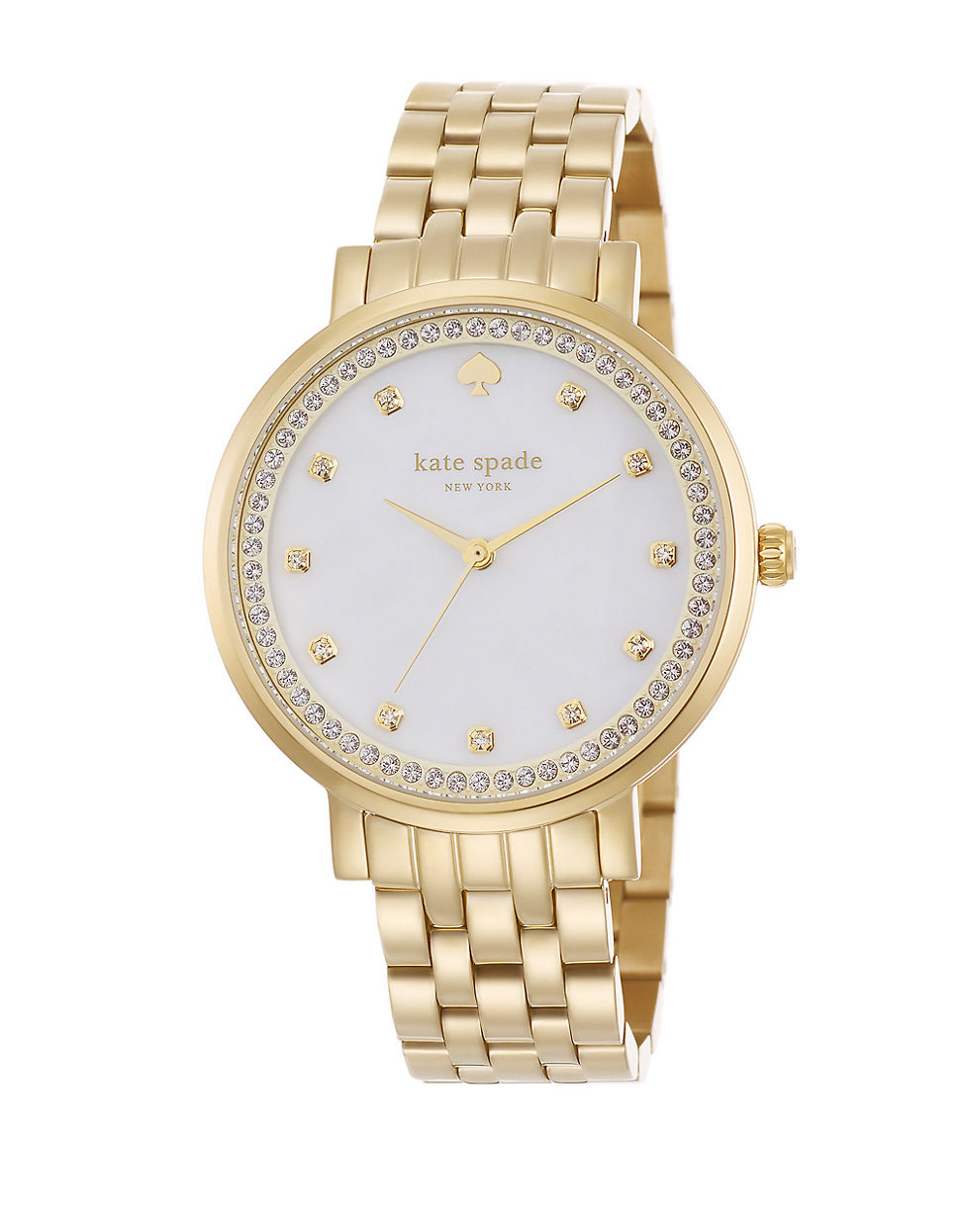 Watch Mother of Pearl Goldtone Round Bracelet Watch - Women video