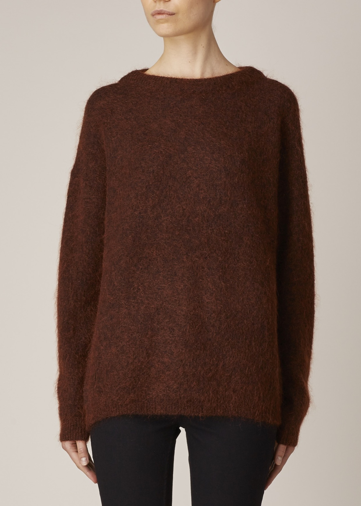 acne studios rust brown dramatic mohair pullover in brown lyst. Black Bedroom Furniture Sets. Home Design Ideas
