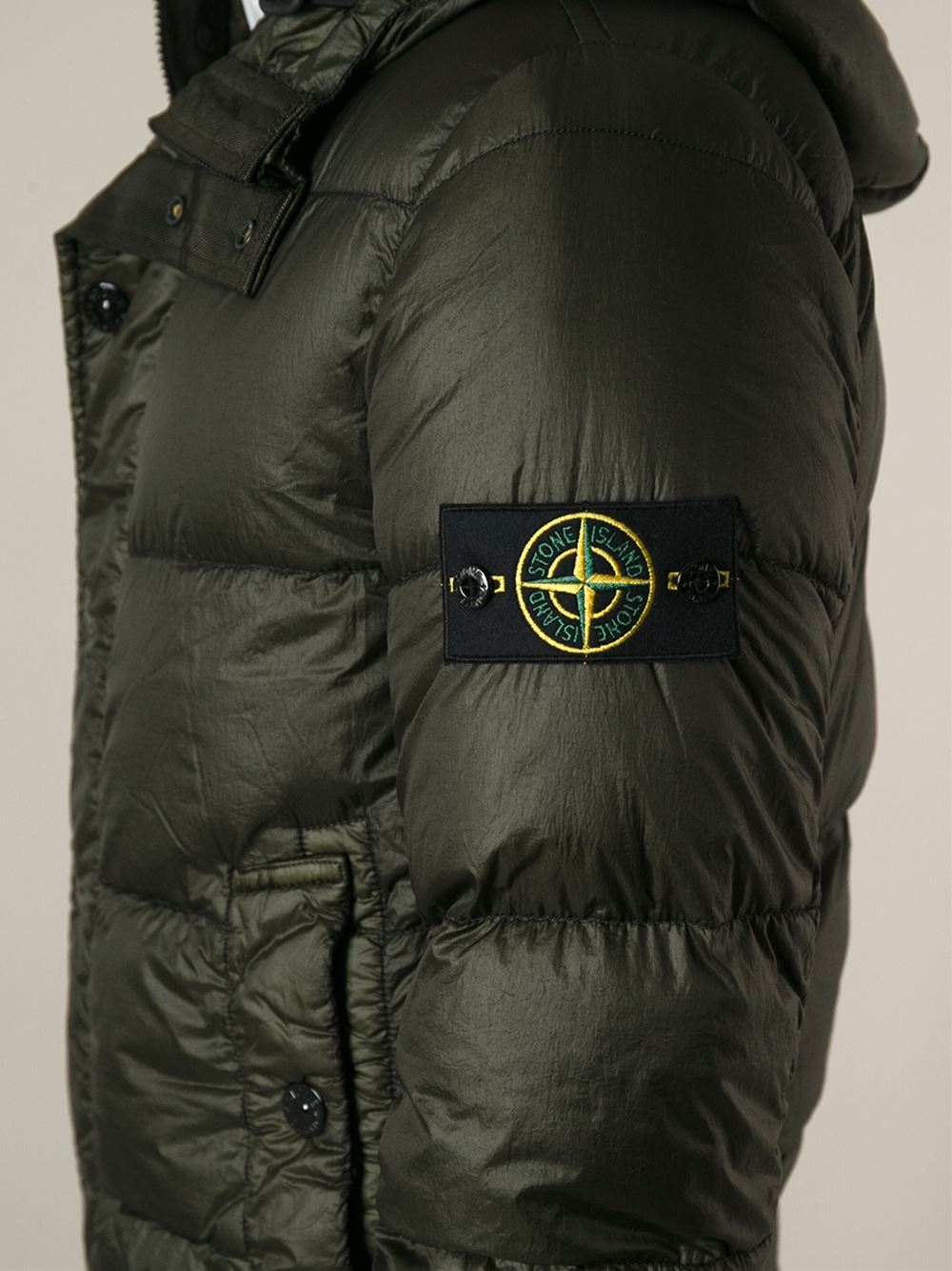 more photos order wholesale price Stone Island Padded Jacket in Green for Men - Lyst