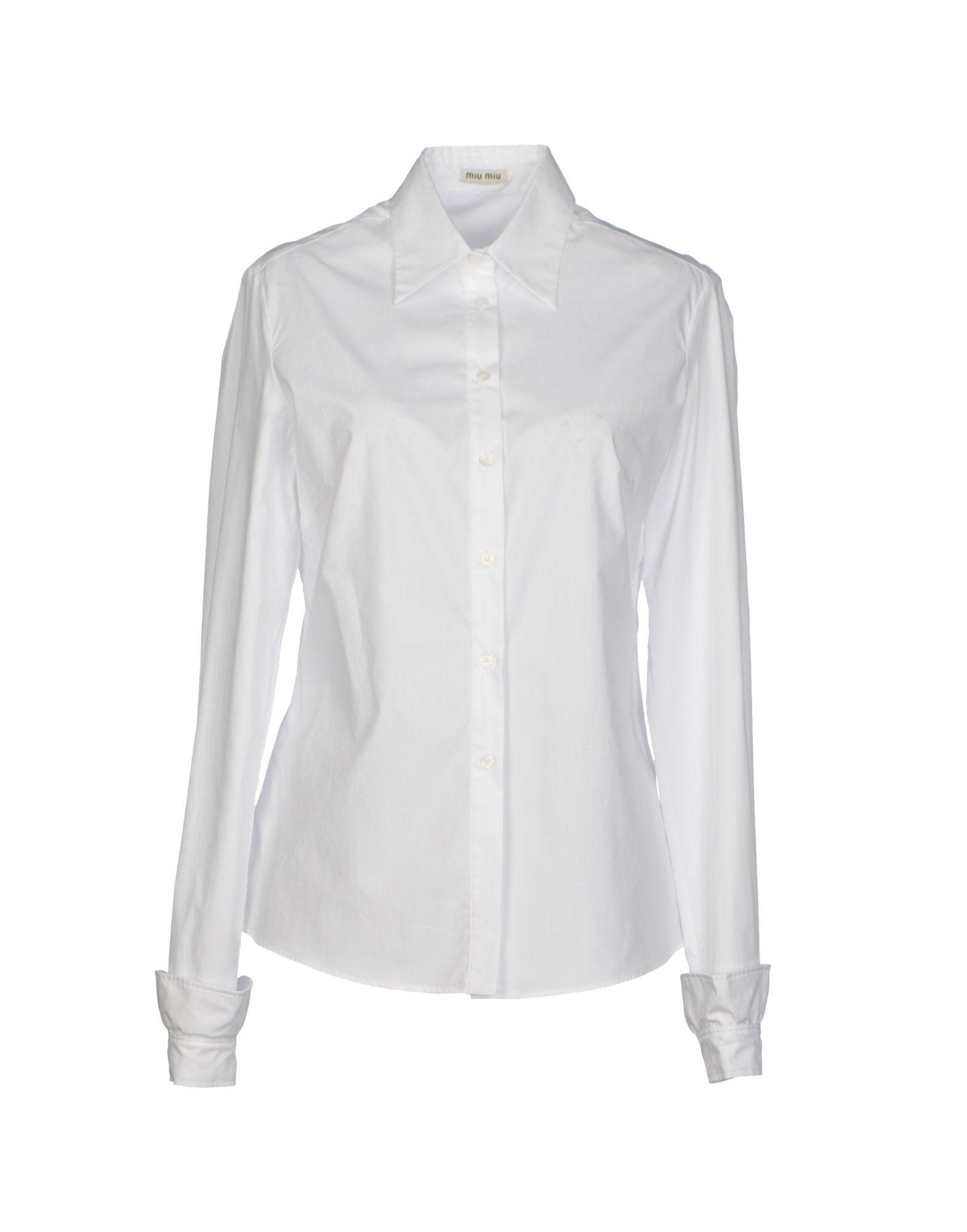 Miu miu shirt in white lyst for Miu miu t shirt