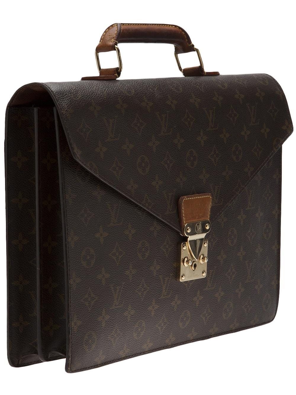 bc35f143eeb9 Lyst - Louis Vuitton Monogram Serviette Briefcase in Brown