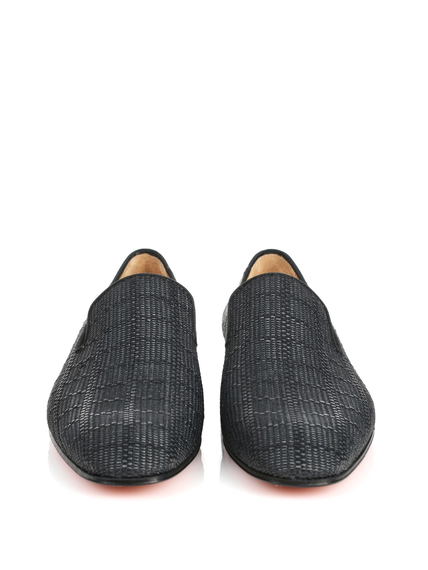 replica shoes christian louboutin - Christian louboutin Dandelion Woven Loafers in Gray for Men (BLACK ...