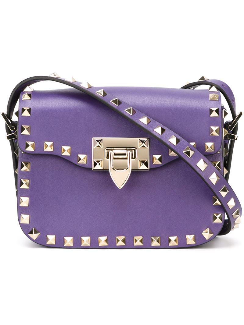 Valentino 'rockstud' Crossbody Bag in Purple